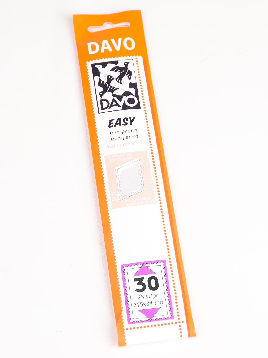 215 x 39 18 pcs. Davo 42035 Easy mounts transparent T35